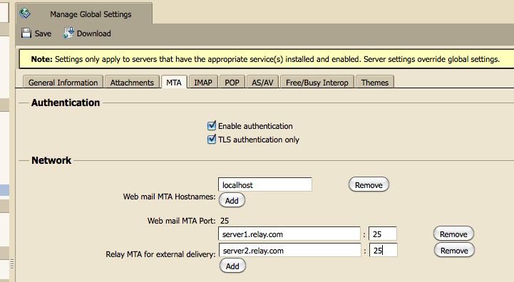 Sending mail through an external relay - Zimbra :: Tech Center