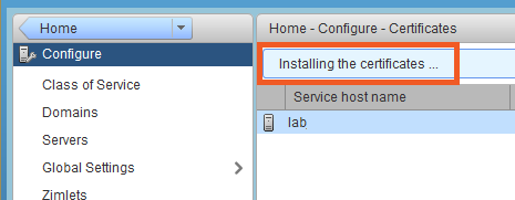 Administration Console and CLI Certificate Tools - Zimbra