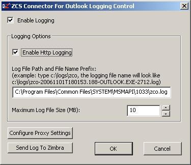 Outlook Troubleshooting Options - Zimbra :: Tech Center