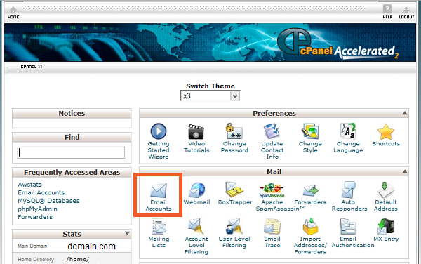cpanel username and password list