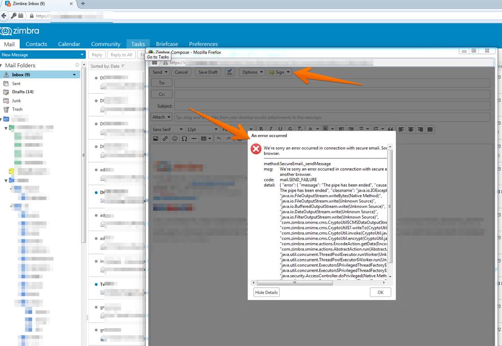 How to configure Zimbra S/MIME in Windows - Zimbra :: Tech