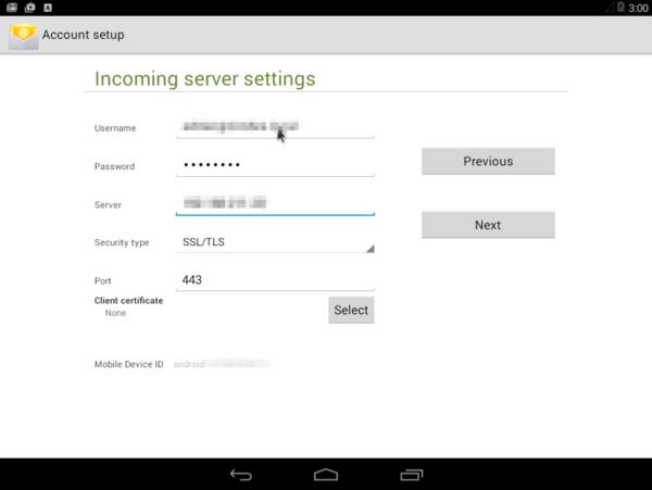 Etape 2 : Sous Android