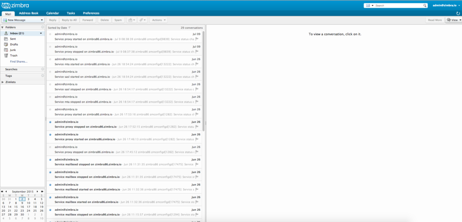 Zimbra Web Client in ZCS 8 0 x and Google Chrome 45+