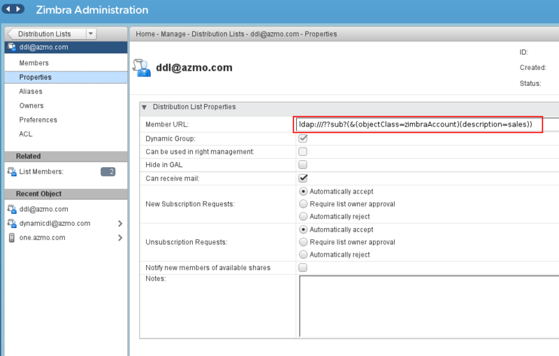 How to configure auto-provisioning with dynamic DL - Zimbra
